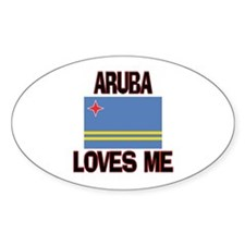 Aruba Loves Me Oval Decal