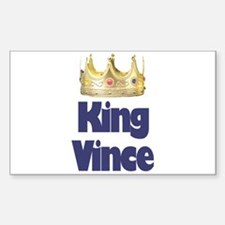 King Vince Rectangle Decal