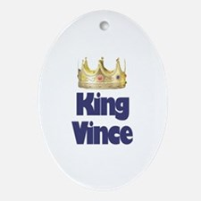 King Vince Oval Ornament