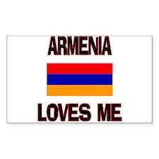 Armenia Loves Me Rectangle Decal