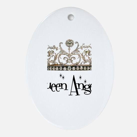 Queen Angela Oval Ornament
