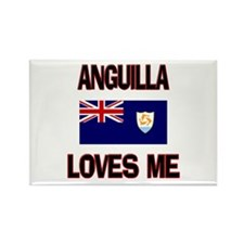 Anguilla Loves Me Rectangle Magnet