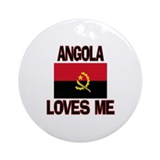 Angola Loves Me Ornament (Round)
