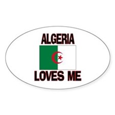 Algeria Loves Me Oval Decal