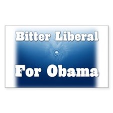 Bitter Liberal for Obama Rectangle Decal