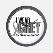 I Wear Grey For Someone Special 10 Wall Clock