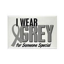 I Wear Grey For Someone Special 10 Rectangle Magne