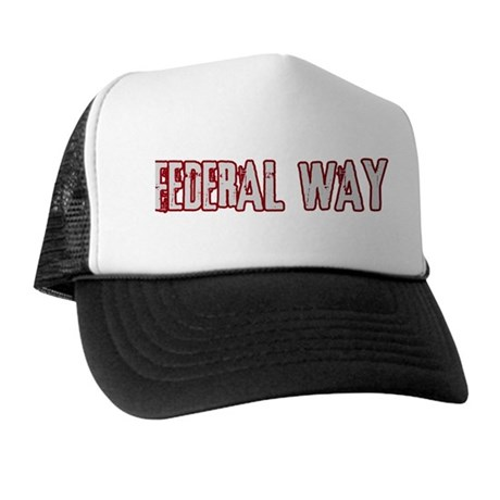 FEDERAL WAY (distressed) Trucker Hat