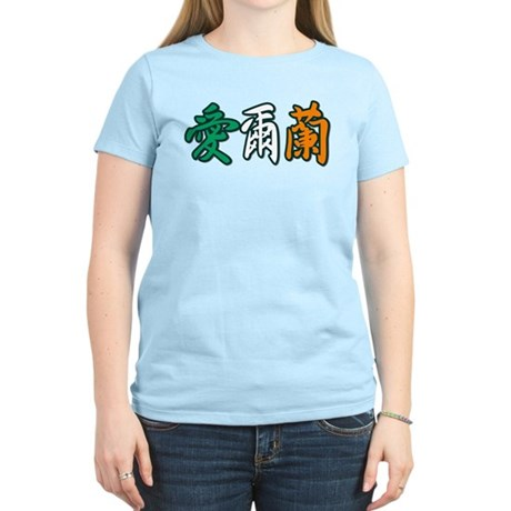 Ireland in Chinese Women's Light T-Shirt