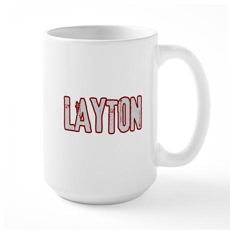 LAYTON (distressed) Large Mug