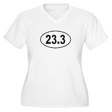 23.3 Womes Plus-Size V-Neck T-Shirt