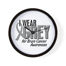 I Wear Grey For Awareness 10 Wall Clock