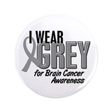 "I Wear Grey For Awareness 10 3.5"" Button (100 pack"