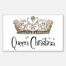 Queen Christina Rectangle Decal