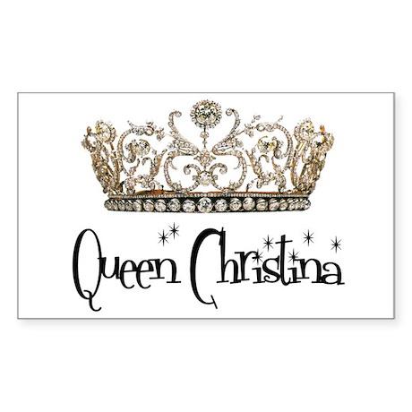 Queen Christina Rectangle Sticker
