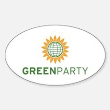 Green Party Logo (global) Oval Decal