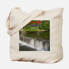 The Old Mill Waterfall Tote Bag