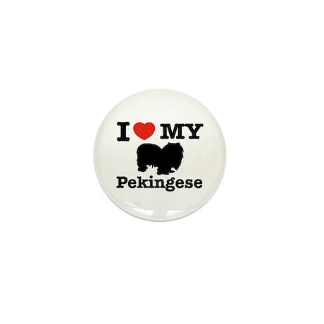 I love my Pekingese Mini Button