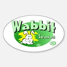 Bunny Wabbit Oval Decal