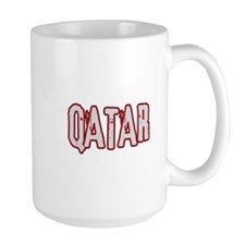 QATAR (distressed) Mug