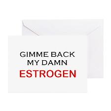 Estrogen! Menopause Greeting Cards (Pk of 10)