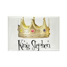 King Stephen Rectangle Magnet