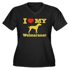 I love my Weimaraner Women's Plus Size V-Neck Dark