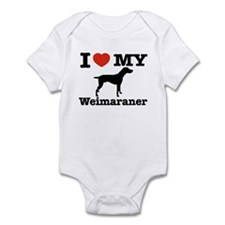 I love my Weimaraner Infant Bodysuit
