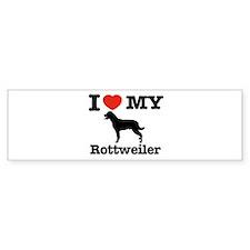 I love my Rottweiler Bumper Sticker (10 pk)