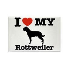 I love my Rottweiler Rectangle Magnet