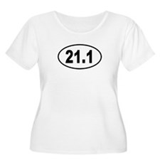 21.1 Womens Plus-Size Scoop Neck T