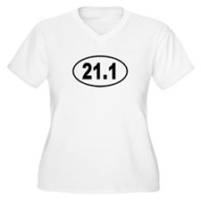 21.1 Womes Plus-Size V-Neck T-Shirt