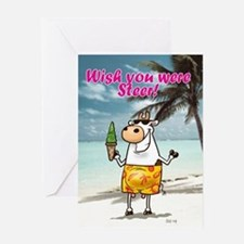 Wish you were steer!Greeting Card