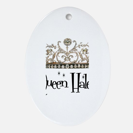 Queen Haley Oval Ornament