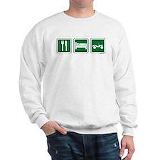 eat sleep wheel Sweater