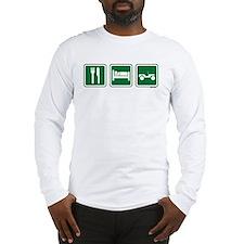 eat sleep wheel Long Sleeve T-Shirt