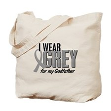 I Wear Grey For My Godfather 10 Tote Bag