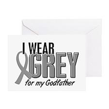 I Wear Grey For My Godfather 10 Greeting Card