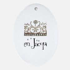 Queen Jacqueline Oval Ornament