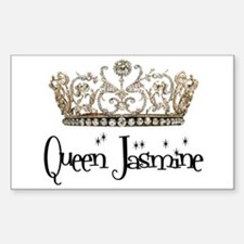 Queen Jasmine Rectangle Decal