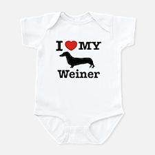 I love my Weiner Infant Bodysuit