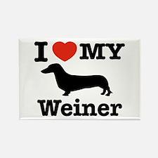 I love my Weiner Rectangle Magnet