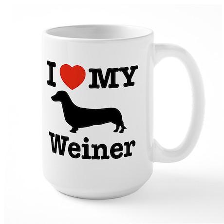 I love my Weiner Large Mug