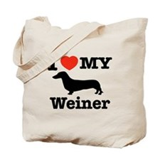 I love my Weiner Tote Bag