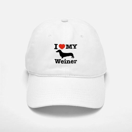 I love my Weiner Baseball Baseball Cap