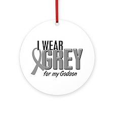 I Wear Grey For My Godson 10 Ornament (Round)