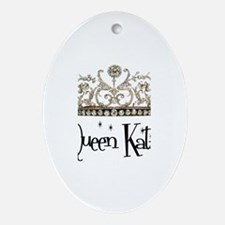 Queen Katie Oval Ornament