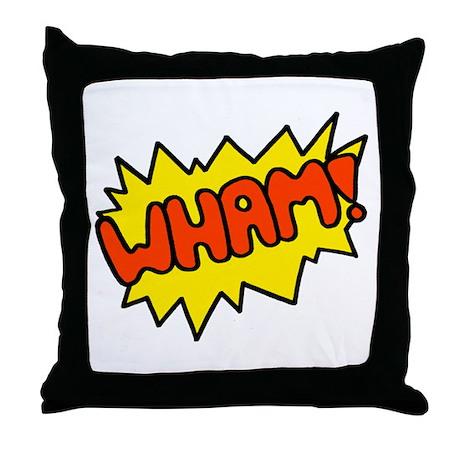 'Wham!' Throw Pillow