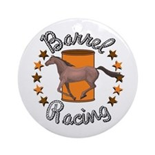 Barrel Racing Horse Ornament (Round)
