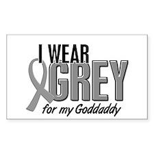 I Wear Grey For My Goddaddy 10 Rectangle Decal